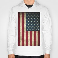 american flag Hoodies featuring American Flag  by  Can Encin