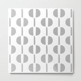 Modernist Geometric Pattern 427 Grey Metal Print