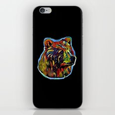Kaleidoscope Bear  iPhone & iPod Skin