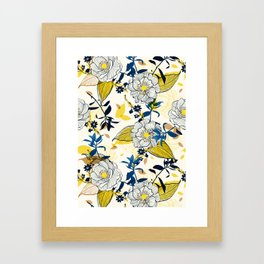 Flowers patten1 Framed Art Print