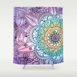 Purple Butterfly Mandala Shower Curtain