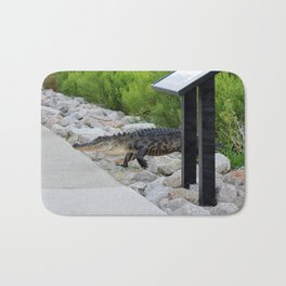 Alligator Coming Up For A Stroll Bath Mat
