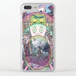 Rick morty Clear iPhone Case
