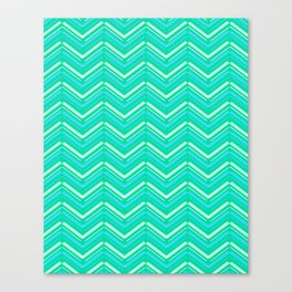 Teal and Yellow Chevron Pattern Canvas Print