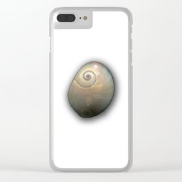 Moon Shell Cosmos Clear iPhone Case