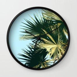 Tropical Trees Sky Exotic Wall Clock