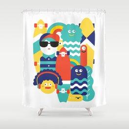 Skate gang Shower Curtain