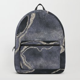 Elegant Grey Gemstone Glamour Mineral Marble Backpack
