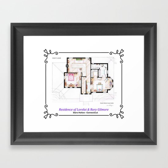 House of Lorelai & Rory Gilmore - First Floor Framed Art Print