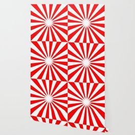 Red And White Bright Ray Background Wallpaper