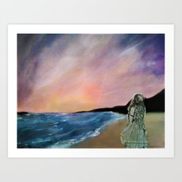 Distant Shore Art Print
