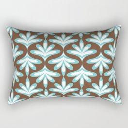 Minimal Lotus Flower Pattern Rectangular Pillow
