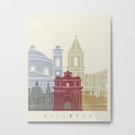 Valletta skyline poster Metal Print