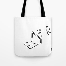 obstacle course athletics hurdle run Tote Bag