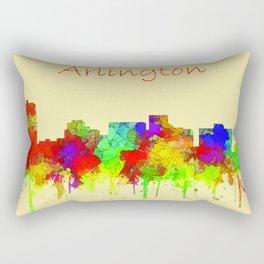Arlington city skyline watercolor Rectangular Pillow