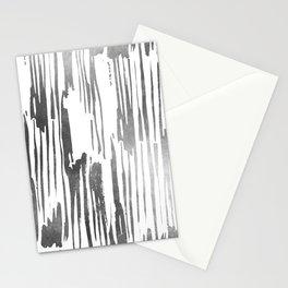 Modern Stripes Gray Stationery Cards