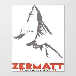 Zermatt, Valais, Switzerland  Canvas Print