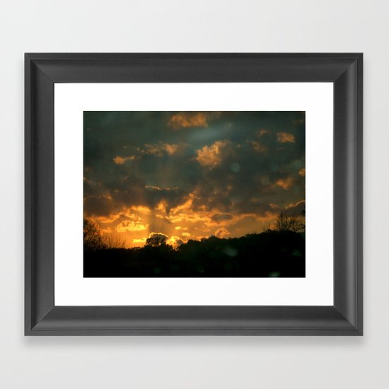 Cloud Interference  Framed Art Print