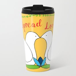 Love Birds Metal Travel Mug