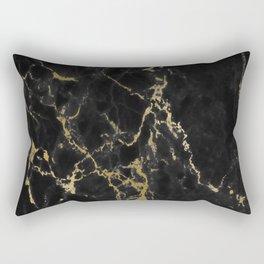 Black faux arbre guilde gold accent Rectangular Pillow