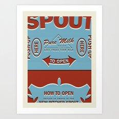 Pure Milk Art Print