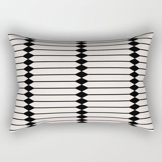 Minimal Geometric Pattern - Black and White by midcenturymodern