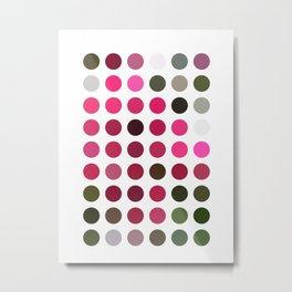 Crape Myrtle Dots Metal Print