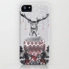 Christmas Deer (by Mariam & Nika) iPhone Case