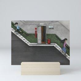 '跳下去的一秒 The Moment While Jumping off' Illustration 15 Mini Art Print