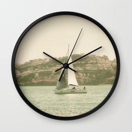 la voile sur le Tage, Lisbonne Wall Clock