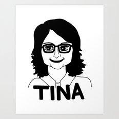 Tina Fey Art Print