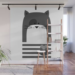 CAT WITH A MOUSE Wall Mural