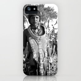 hammer tribal woman  iPhone Case