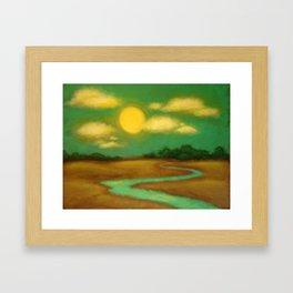 Sunny River Framed Art Print