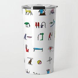 Egyptian hieroglyphics pattern Travel Mug