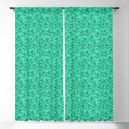 Paradise Palm Leafs Plant Mum - Green Blackout Curtain