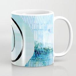 Black spiral on blue Coffee Mug