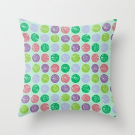 Coloured dots1 Throw Pillow