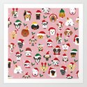 Christmas Dog Pattern Illustration by junkydotcom
