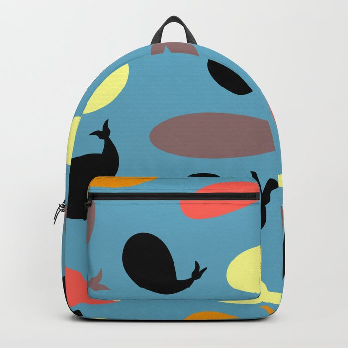 Colorful whales Backpack