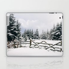 Gate and trees covered in heavy snow. Matterdale End, Cumbria, UK. Laptop & iPad Skin