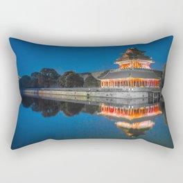 Spectacularly Gorgeous Palace Museum Dongcheng Beijing China Asia Reflection Ultra HD Rectangular Pillow