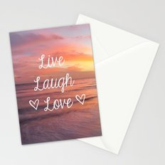 Live Laugh Love - Beach Stationery Cards