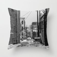 Alley Winter Throw Pillow