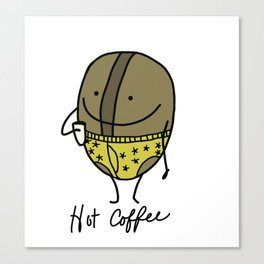 Hot coffee Canvas Print