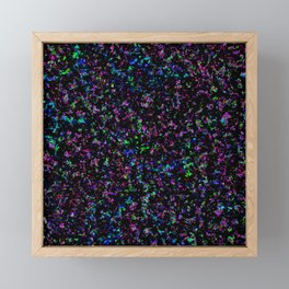 Black Light Color Spray Framed Mini Art Print