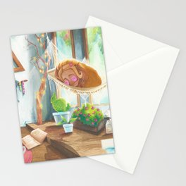 Sleeping in the Sunshine Stationery Cards