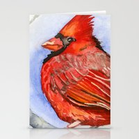 cardinal Stationery Cards featuring Cardinal by Priscilla George