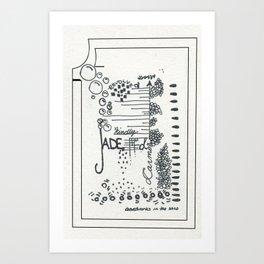 jaded Art Print
