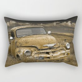 Abandoned Vintage Chevy Pickup Truck Rectangular Pillow